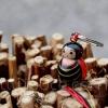 Porte-clefs lillipuce coccinelle 3 cm