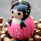 porte clefs lillipuce opale confettis 5.5 cm