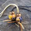 Paire de puces, jaune-indigo et indigo-jaune