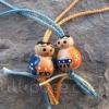 Paire de puces, bleu-orange et orange-bleu