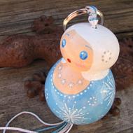 Porte-clef opale neige
